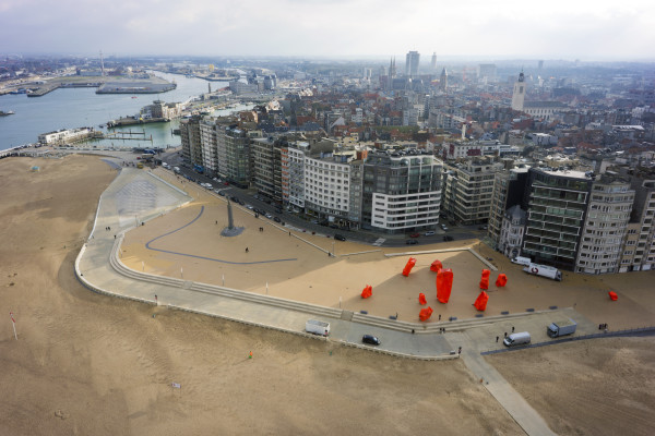 Het vernieuwde Zeeheldenplein in Oostende