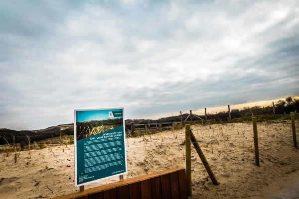 Foto van een strandtoegang in Bredene