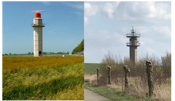 De oude en vernieuwde radartoren Hoofdplaat