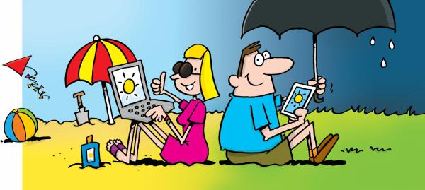 Cartoon voor kustweerbericht