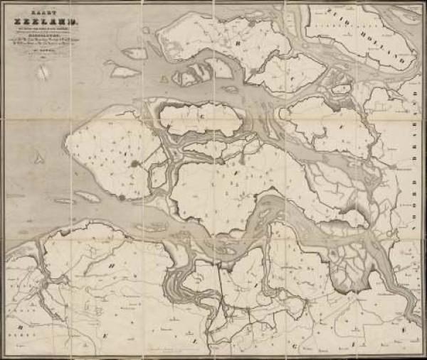 Kaart van de Westerschelde
