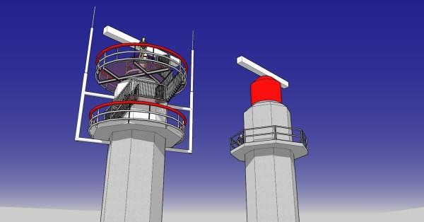 De vernieuwde en oude radarkoepel