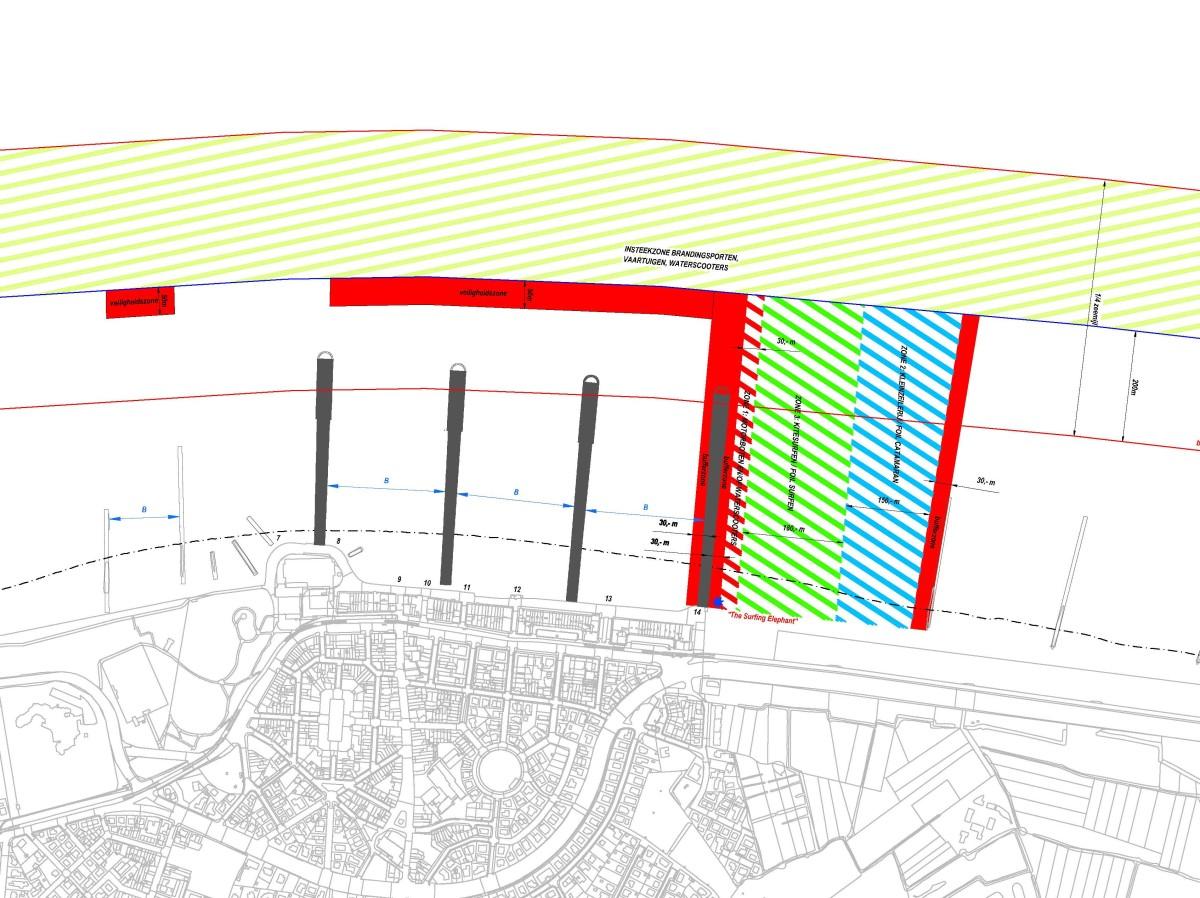 Plan nieuwe insteekzones Wenduine